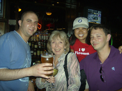 Sergio from the Philadelphia Fed; Sandy from the San Francisco Fed (SLC Branch); and Josh, a friend of Sergio, also from Philly.  Here we are hanging out in Delaney's in LoDo after a Rockies game.  The Rockies swept the Yankees in that series.  Sandy kept us out late to celebrate!