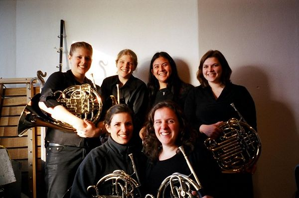 Cornell Symphonic Band Horns 2005<br /> Clockwise from top Right:<br /> Renee, Becky, Lucy, Amy, Kaitl, Kelly