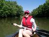 Kelly in canoe