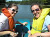 Kelly and Kaitlin paddle boat extroidinaires