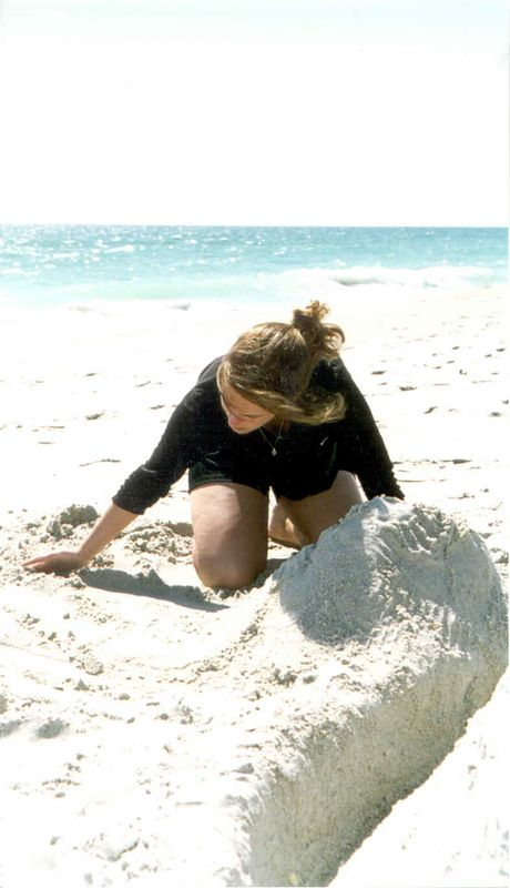 Alex playing in the sand.<br /> Spring Break 2004