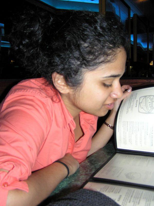 Sloshie with menu at Dino's