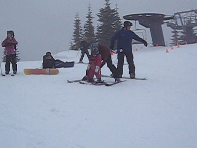 This is a movie. Click twice to see.  Corri skiing off the big lift! At Summit West.
