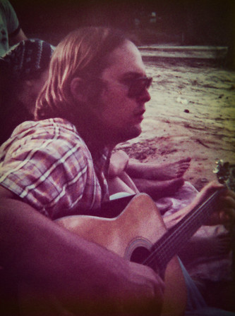 Steve brought his guitar when we went camping.  This was in 1976.