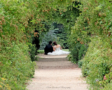 Young couple at Planting Fields Arboretum.