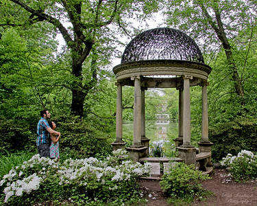Couple by the Temple Of Love in Old Westbury Gardens.