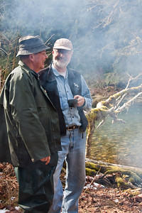 Bill and Gregor Chat in the Smoke