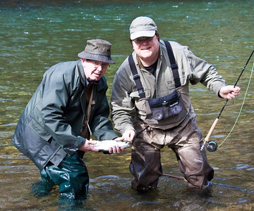 Bill and James with Lake Trout