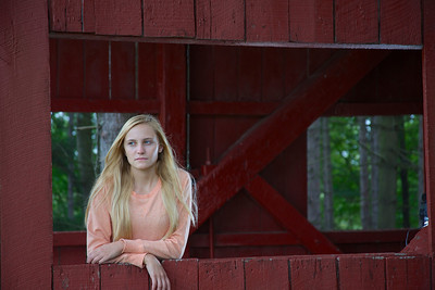 Christina and the covered bridge