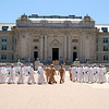 Plebes (entry level cadets) march to Chow