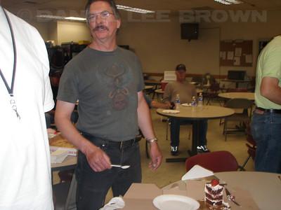 Ralph Gwaltney's mini retirement bash! Jerry Huf.