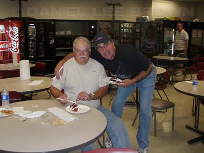 Ralph Gwaltney's mini retirement bash! Dave and Ralph.