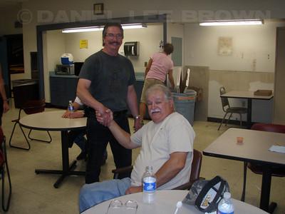 Ralph Gwaltney's mini retirement bash! Jerry and Ralph.