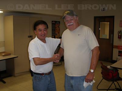 Ralph Gwaltney's mini retirement bash! Ralph and Rick.