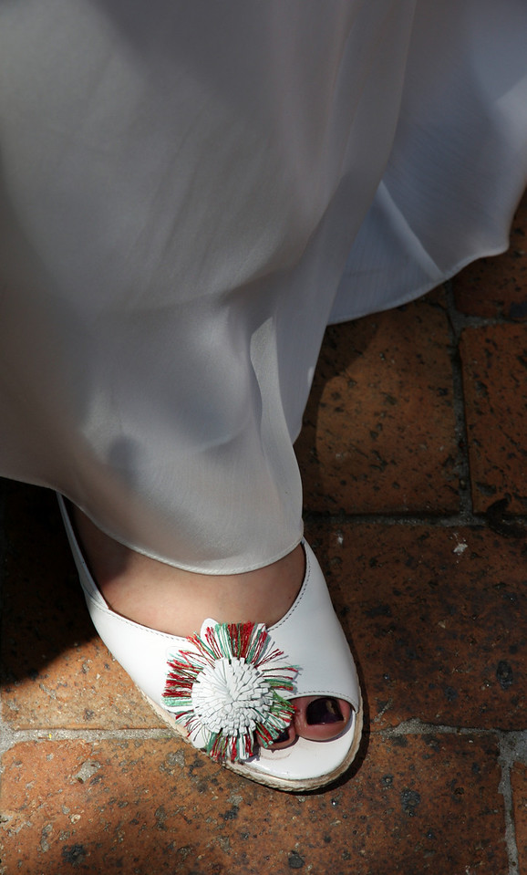 Bridal shoe. & toes.