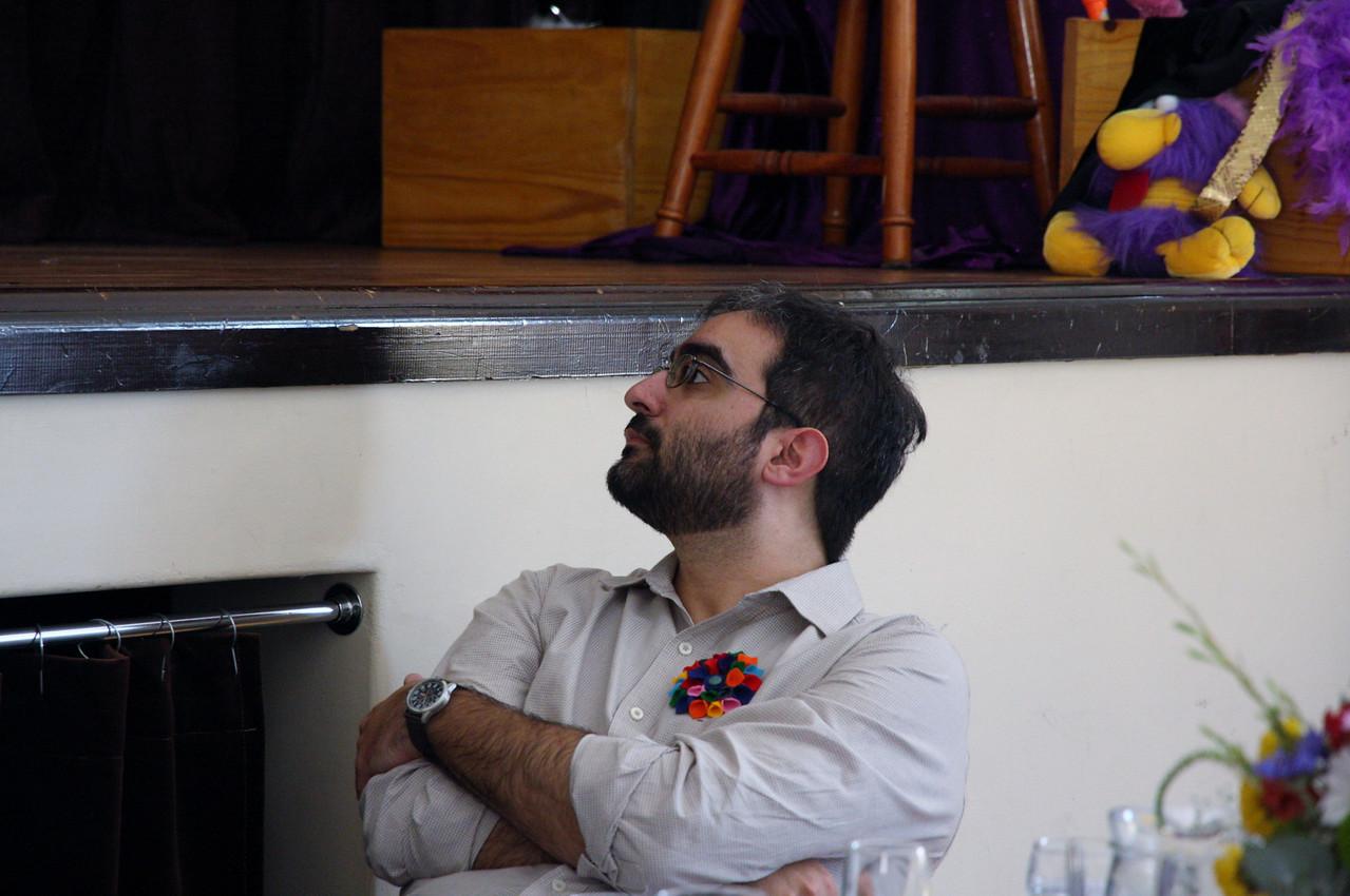 Dave watching Ilda sing.