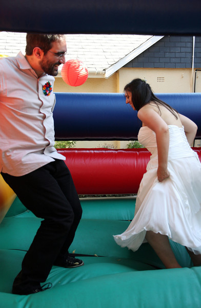 The happy couple. Their first married bounce.