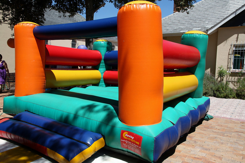 Bouncing castle. Supposedly for the children.