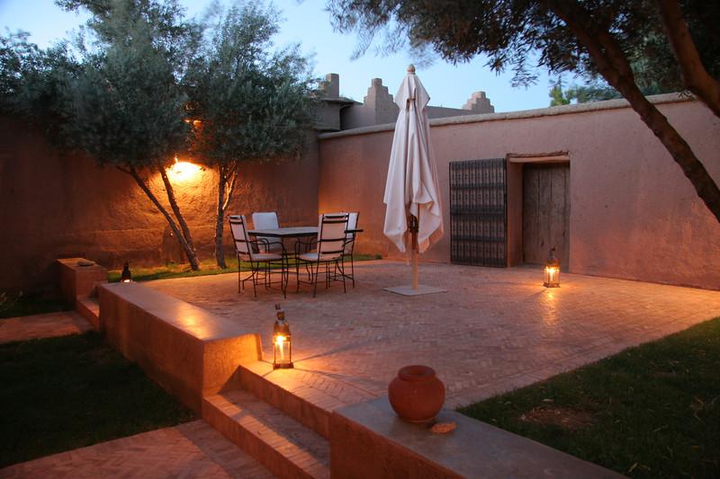 courtyard to our villa evening shot