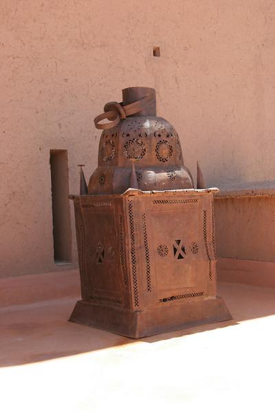 huge lantern on roof