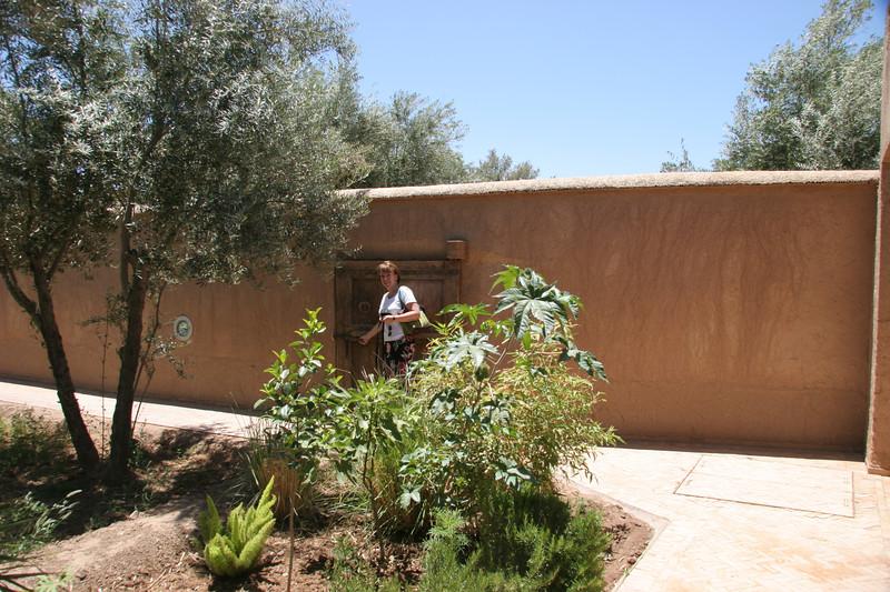 doorway to villa