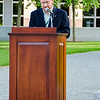 Class President Jeff Fine introduces President Hanlan.