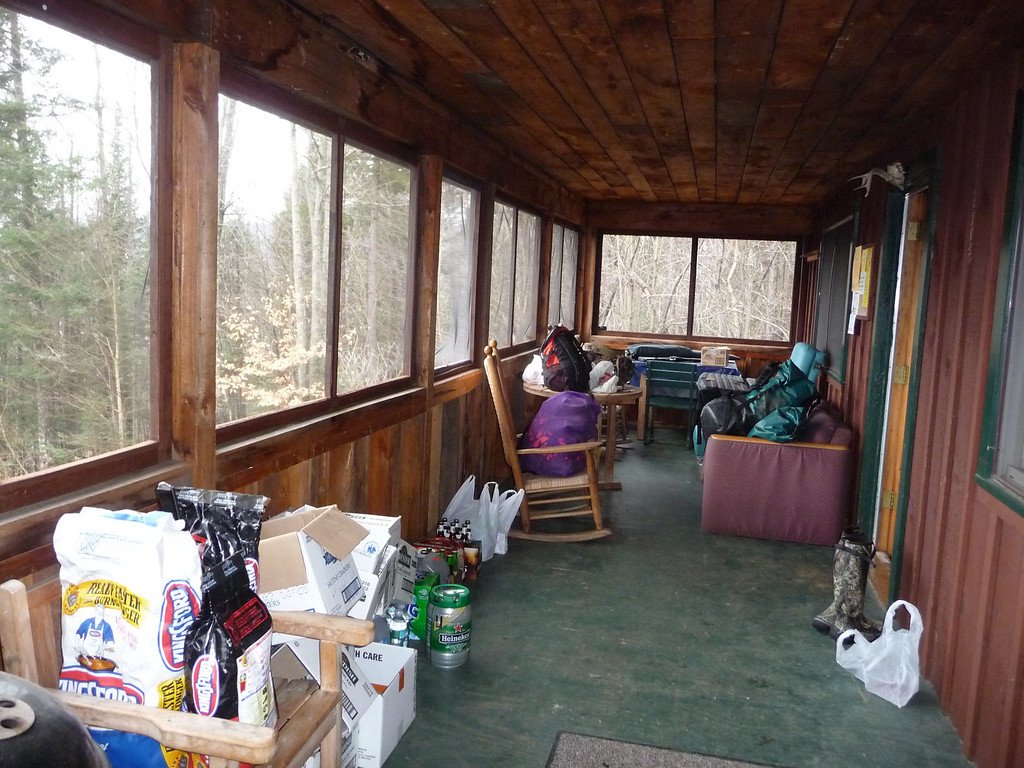 Front porch of Johnson Brook Cabin