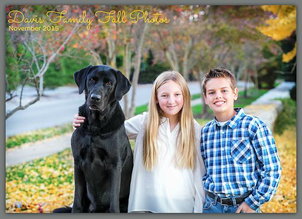 Davis Family 2015 Fall Photos
