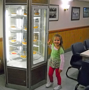 Adeline Checks out the Pies