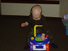 Dayton 3-08--Ethan checking out the new riding toy