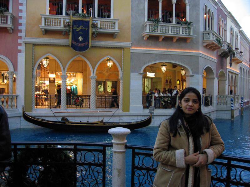 shweta inside the 'Venetian'