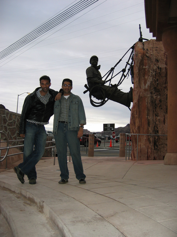 sachin & yours truly at the Hoover dam