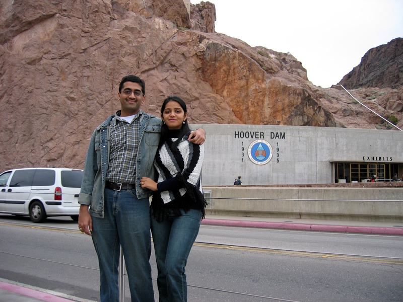sachin & shweta at the Hoover dam