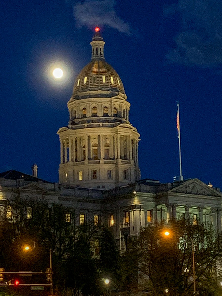 Colorado State Capitol at night