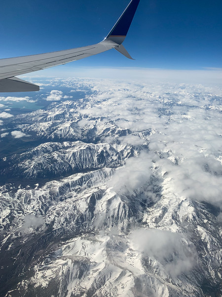 Sierra Nevada Mountains on the way there