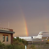 The start of our trip, 6:45am at the Moab Airport. Double rainbow, unique in that the sun was not yet above the opposite horizon.