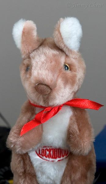 Another stuffed animal on display.