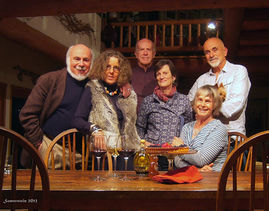 Stephen Somerstein, left; Eva Strauss-Rosen, 2nd on left; Dick Williams; Mary Williams; Mariss Carlisle; Lorenzo Carlisle - GET TOGETHER with my wife Eva,  Lorenzo and Marissa Carlisle, as well as Dick & Mary Williams. Dinner, drinks and good conversation.