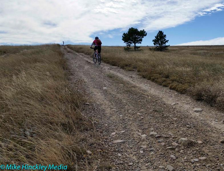"Mountain biking the ""Dirty Bismark"" loop."