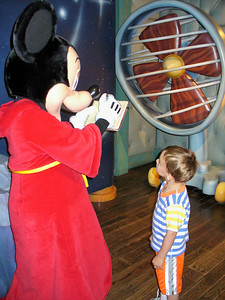 Calvin getting Mickey's autograph