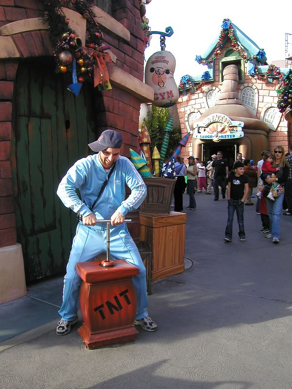 Later, I blew up toon town.  I'm so mischievous,