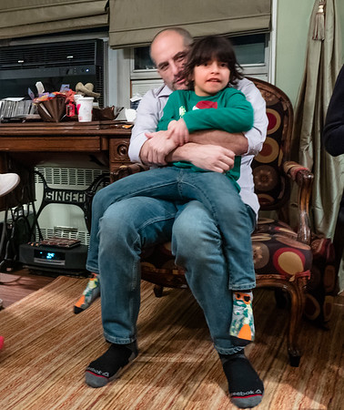 Adam and Mayyar....Daddy and Son.