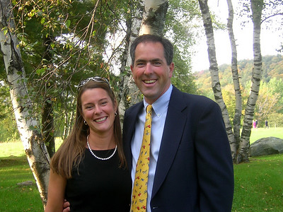 Mr and Mrs Durant in fine form at the wedding of Aleks and Rebecca in VT, 9-16-06.