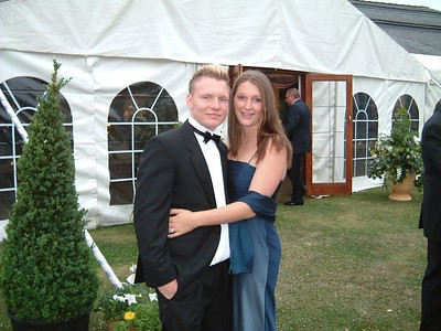 dims and katie at leavers ball