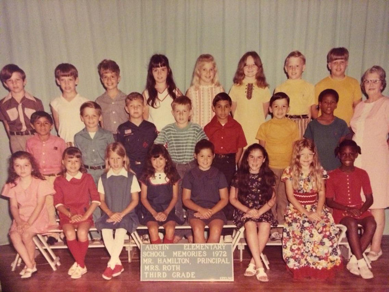 Vance's 3rd grade class--Teach Mrs. Roth.  Includes Ben Downs, Vance, Sandra Hessong, Kathleen Pahmier (misspelled), Charles Milby, Sonny Strelic (misspelled), Clinton Hicks (I think), Donald Rohan, Marty Montez, Linda Sulak, Kimberly Rupert, Vivian Sembera.