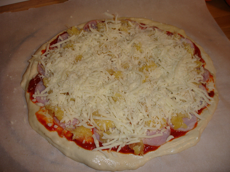 "Pizza ready for the Big Green Egg, and posted at  <a href=""http://www.greeneggers.com"">http://www.greeneggers.com</a>"