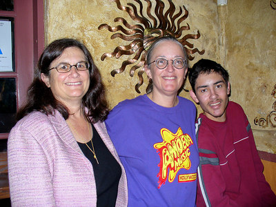Nancy and River & her son Joaquin