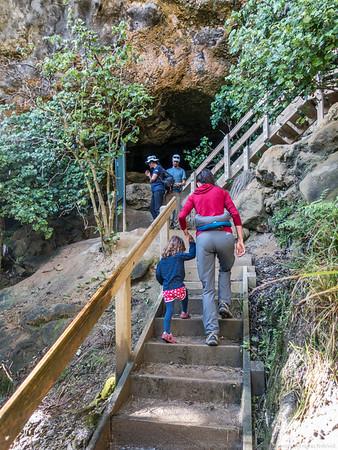 Visiting Punakaiki Cavern.