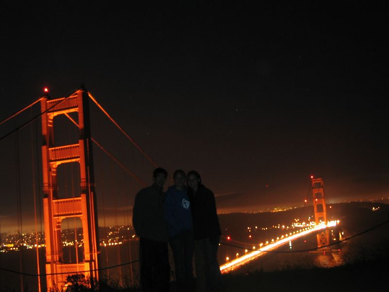 2004 07 12 Monday - Ben, Melody, & Carrie @ Golden Gate Bridge