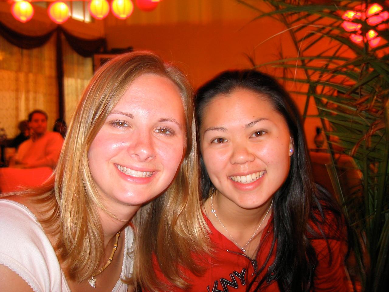 2004 05 15 Saturday - @ Everett & Jones back room jazz - Melody & Tiffany 2